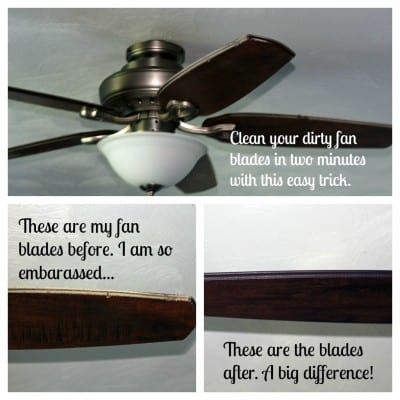 An easy way to clean fan blades in minutes