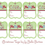 Download a set of FREE holiday tags