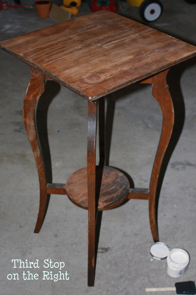 look how gross this thing was - Refinish Table