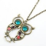 Crystal Diamond Owl Design Necklace for $0.64 with Free Shipping!