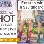 Win one of Ten $20 Gift Cards to Country Outfitter