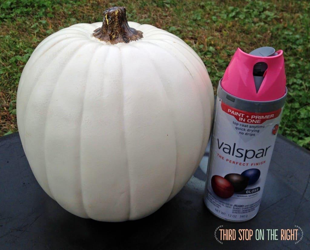 MonogramPumpkin10 Easy No Carve Monogram Glitter Pumpkin Third
