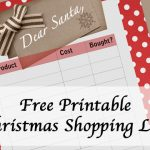 Keep Track of Christmas Shopping with this Free Printable Shopping List