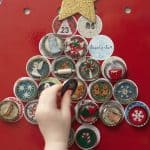 Magnetic Bottle Cap Christmas Advent Calendar