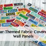 Creating Fabric Wall Panels and Race Car Picture for a Toddler Room