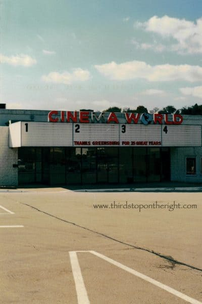 Remembering Cinema World in Eastgate Plaza (Greensburg, PA)