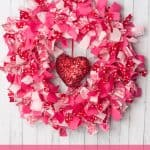 Making A Valentine's Day Rag Wreath With Fabric Scraps