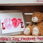 Making a Keepsake Valentine's Day Handprint Picture