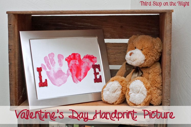 Valentine's Day Handprint and Footprint Picture