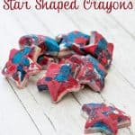 Red, White, and Blue 4th of July Patriotic Star Crayons