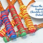 Thomas the Train Inspired Chocolate Covered Pretzels
