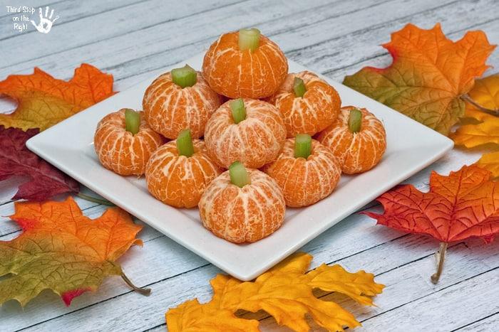 """Allergy-Free Clementine """"Pumpkin"""" School Snack"""
