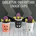 Spooky Halloween Skeleton Graveyard Snack Cups
