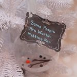 Some People Are Worth Melting For Frozen-Inspired Snowman Ornament