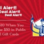Deal Alert! Save $10 When You Purchase $50 in Publix Fuel Gift Cards