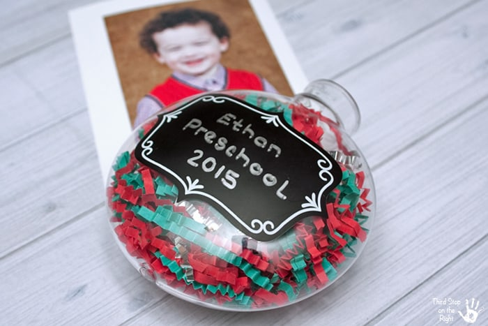 Confetti Inside Photo Ornament