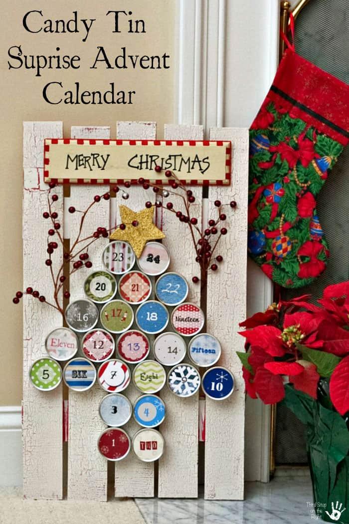 Diy Chocolate Advent Calendar : Diy candy tin surprise inside advent calendar third stop