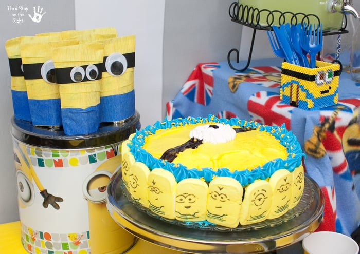 Minion Cake Juice Boxes