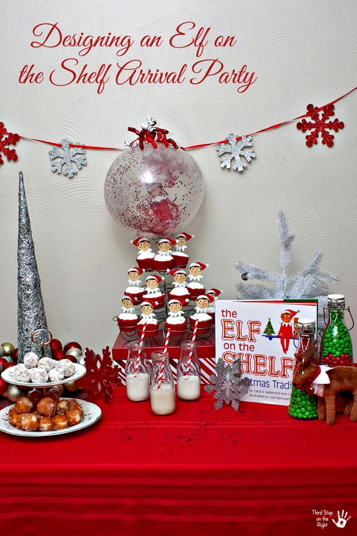 Elf on the Shelf Arrival Party Setup
