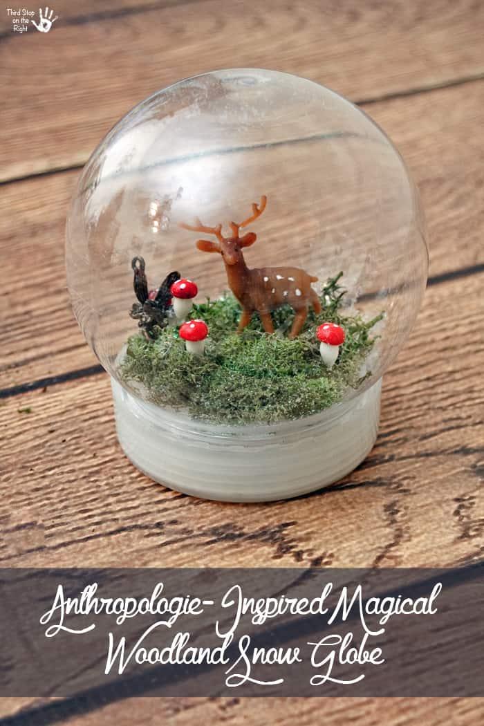 Finished Magical Woodland Snow Globe