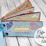 Create a Cute Baby Shower Album from Coffee Sleeves