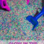 Glow in the Dark Rice Table Play Rice