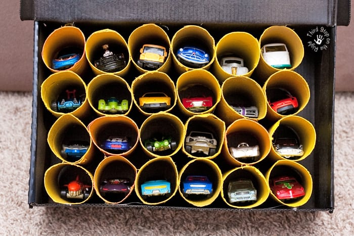Create A Toy Car Garage Out Of Toilet Paper Rolls Third Stop On