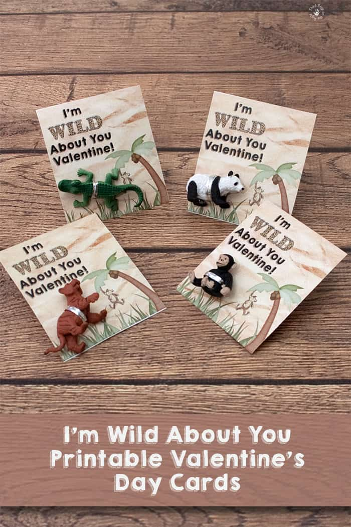 "Valentine's Day Cards With Animals Attached Saying ""I'm Wild About You Valentine!"""