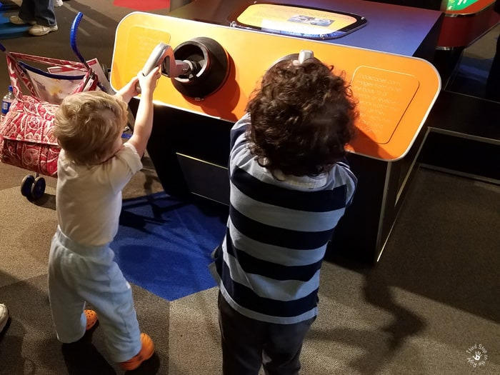 Using the endoscope at the Carnegie Science Center