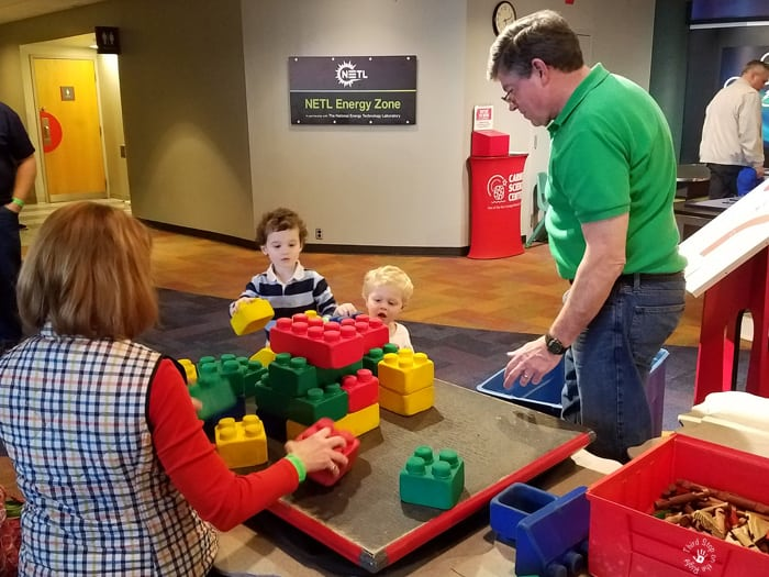 Building with Blocks at the Carnegie Science Center