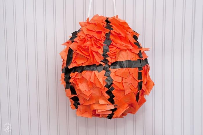 Homemade Papier Mache Basketball Pinata