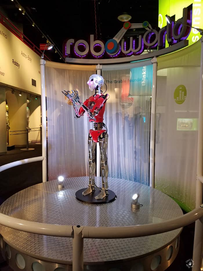 Artificial Intelligence Robot in Roboworld at Carnegie Science Center