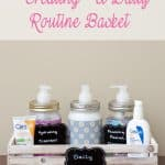 Creating a Daily Skin Care Routine Basket