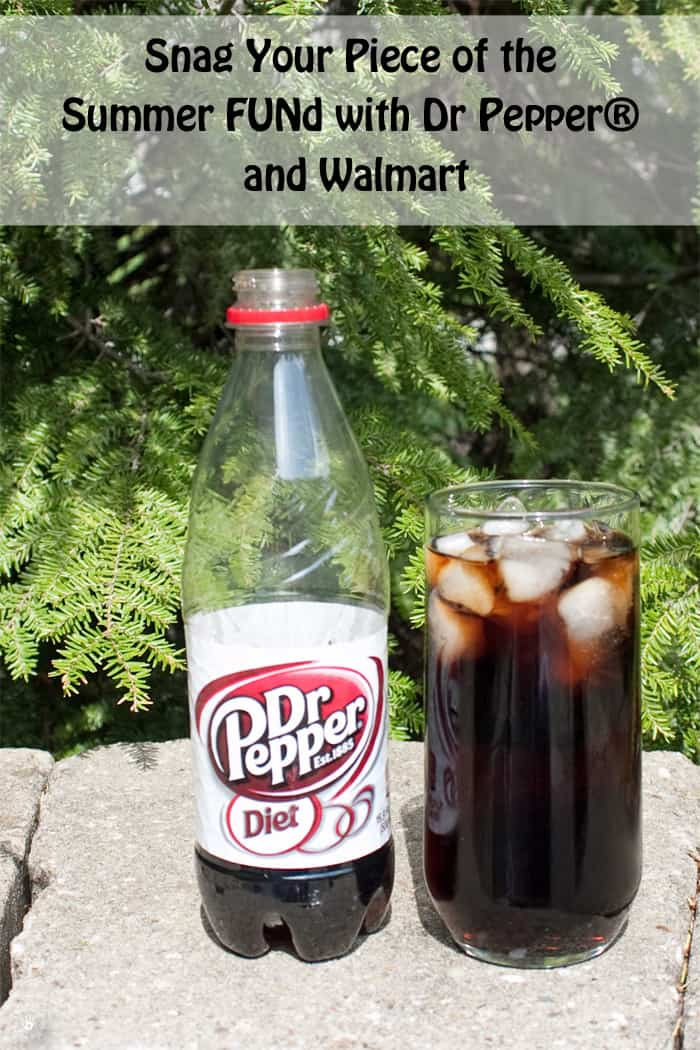 Dr Pepper Bottle and Glass of Soda on a Wall