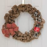 How to Make a Coca-Cola Themed Burlap Wreath