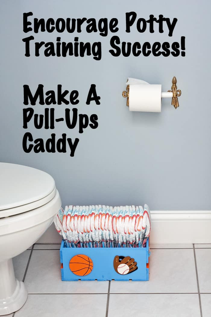 Pull-Ups Caddy in Bathroom by Toilet