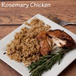 Fall Apart Slow Cooker Balsamic Rosemary Chicken