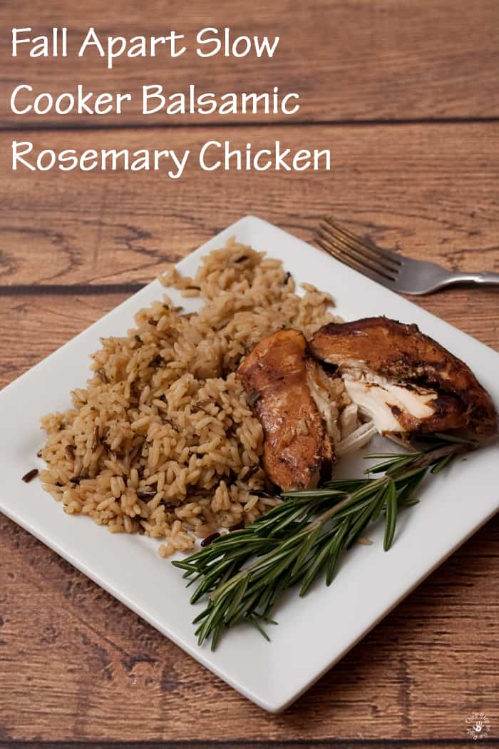 Marinaded Balsamic Chicken with Wild Rice and Rosemary
