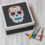 Dia De Muertos Sugar Skull Adult Coloring Project