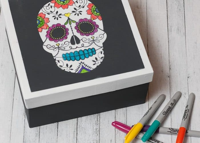 Dia De Muertos Sugar Skull Adult Coloring Project