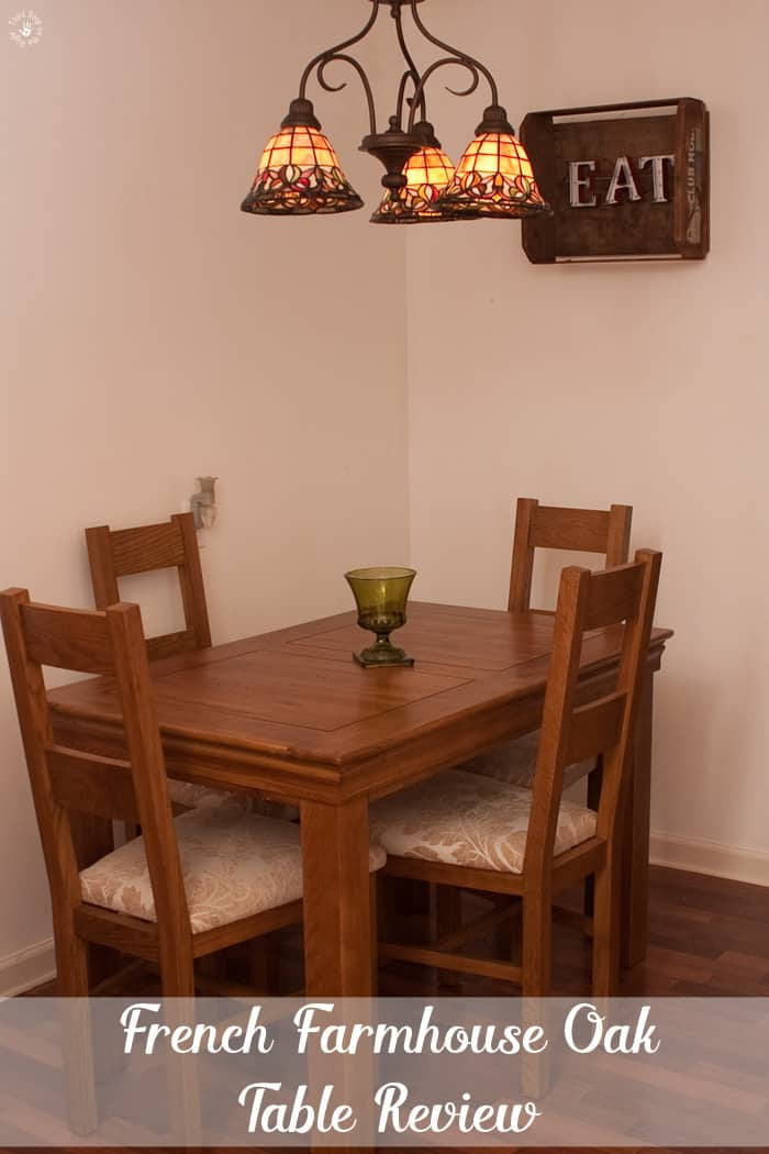 French Farmhouse Oak Dining Table Set Review