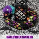 Halloween Lantern and Wreath Centerpiece