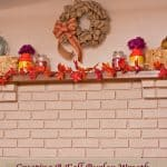 Creating A Fall Burlap Wreath and the Perfect Fall Mantel