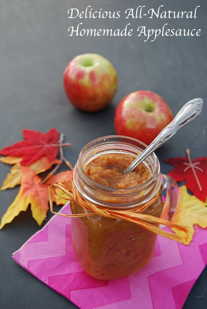 Delicious All-Natural Homemade Applesauce