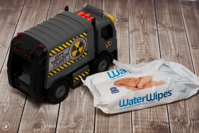 Using WaterWipes to Clean Toys