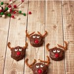 Peanut Butter Sandwich Cracker Reindeer Holiday Treats