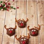Peanut Butter Sandwich Cracker Reindeer Holiday Treats