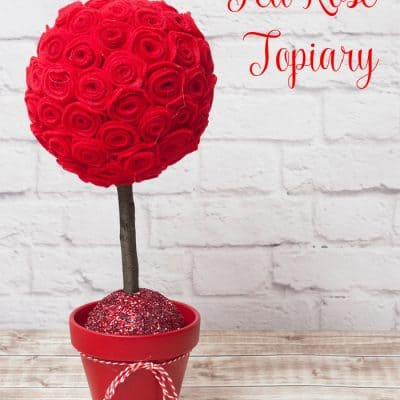 Valentine's Day Felt Rose Topiary