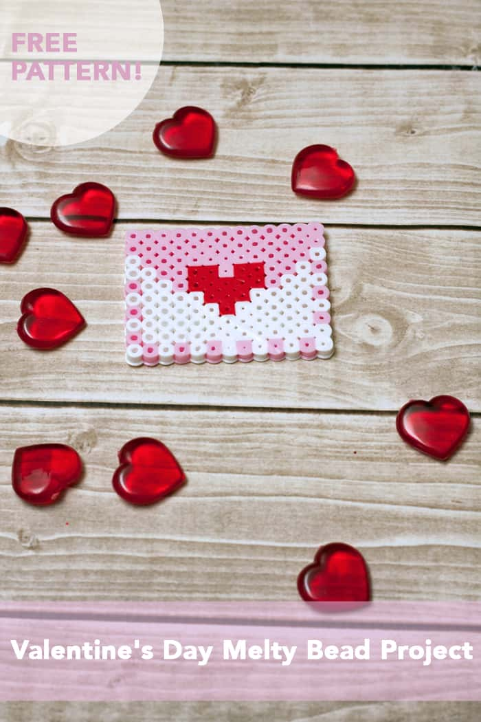 Melty Bead Valentine's Day Envelope Proiect