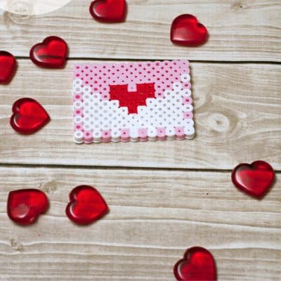 Valentine's Day Melty Bead Letter Project